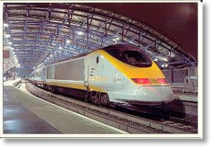 Eurostar In Waterloo Station, London Postcard