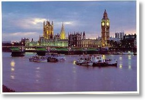 Parliament Buildings, London Postcards