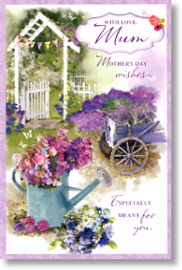 Garden Scene, Mum Mother's Day Card