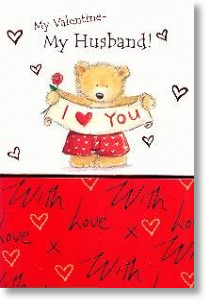 Banner, Husband Valentine's Day Card