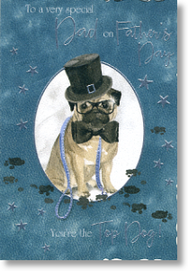 Dapper Dog, Father's Day Card