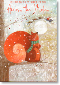Red Squirrel, Cute Across the Miles Christmas Card