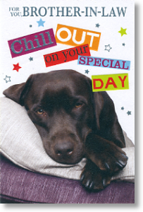Chill Out, Brother-in-law Birthday Card
