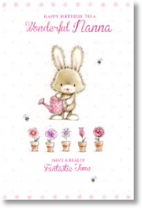 Bonny Bunny, Nanna Birthday Card
