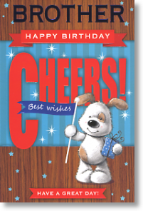 Best Wishes, Brother Birthday Card