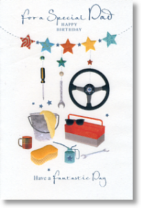 Cars, Dad Birthday Card