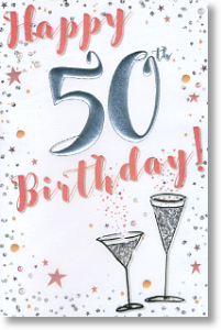 Cocktails, 50th Birthday Card