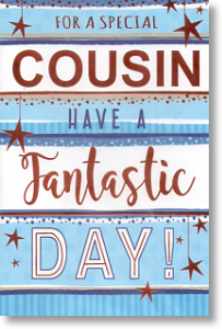 Stripey, Cousin Birthday Card