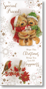 Teddybears, Cute Special Friends Christmas Card