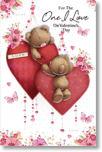 Bears & Hearts, Cute Valentine's Day Card