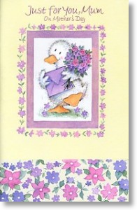 Goosey, Cute Mother's Day Card, Large Card