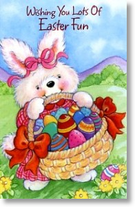 Egg Hunt, Easter Card