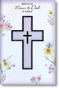 Lilac Cross, Mum & Dad- Small Card
