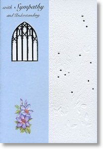 Church Window, Sympathy Card