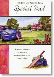 Cricket Match, Father's Day Card