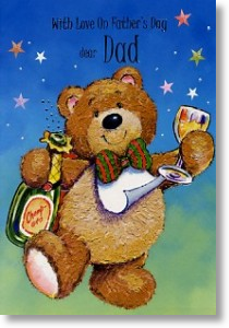Bow Tie Bear, Father's Day Card