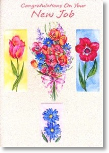 Bouquet of Tulips, New Job Card