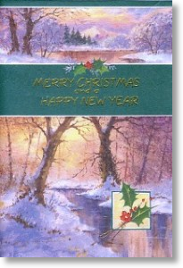 River Scene, Traditional General Christmas Card