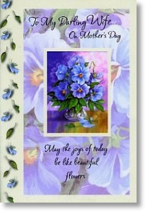 Beautiful Flowers, Wife Mother's Day Card