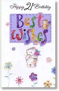 Cat and Mouse, 21st Birthday Card