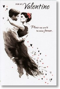 Embracing Couple, Valentine's Day Card