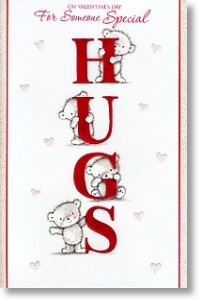 Hugs, Cute Valentine's Day Card