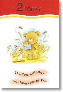 Duckling, 2nd Birthday Card