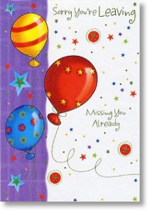 Balloons, Leaving Card