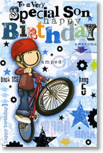 BMX Kid, Son Birthday Card