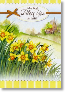 Cluster of Daffodils, Easter Card