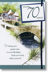 By The River, 70th Birthday Card