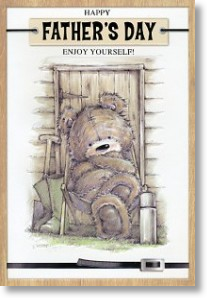 Gardening-Bear, Large Card