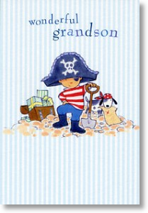Ahoy Captain - Grandson (Small Card)
