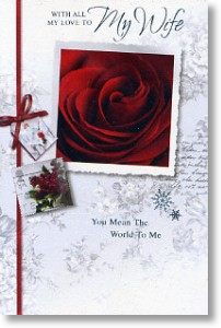 Berries & Roses, Wife Christmas Card