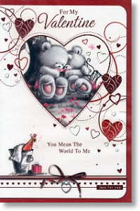 Pink Champagne, Cute Valentine's Day Card