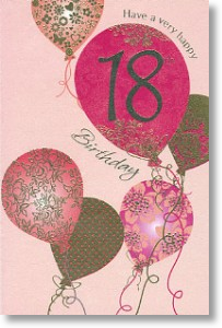 Pink & Gold Balloons - 18th