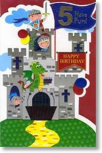 Castle, 5th Birthday Card